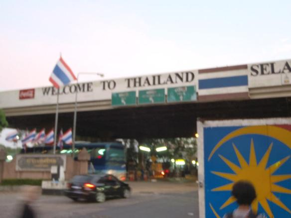 the border gate; northern West Malaysia, Bukit Kayu Hitam and Southern Thailand, Sadao