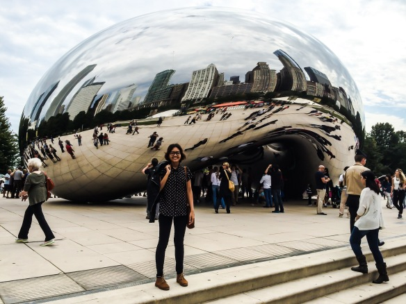Cloud Gate or The Bean in Chicago, Illinois.