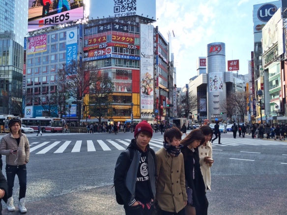 The famous Shibuya Crossing!