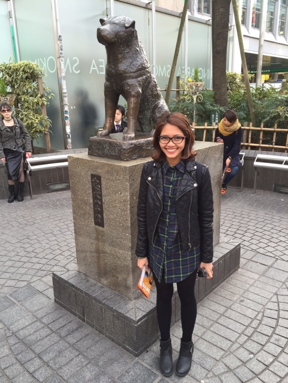 With status of legendary loyal dog in 20th century, Hachiko, near Shibuya subway entrance/exit, Hachiko.